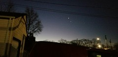 Venus and Jupiter in the morning sky