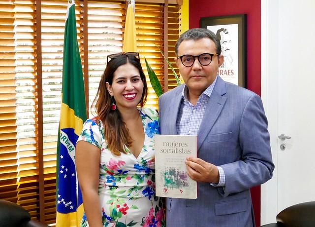 Siqueira recebe vice-presidente de Mulheres do PS do Chile - 19/1/2019
