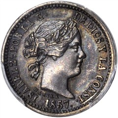 1857 Philippines Pattern Peso obverse