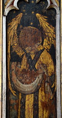 south aisle screen: angel bearing souls (15th Century)