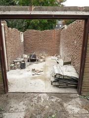Vloer en muur garage doorgeslepen, 4 oktober 2018