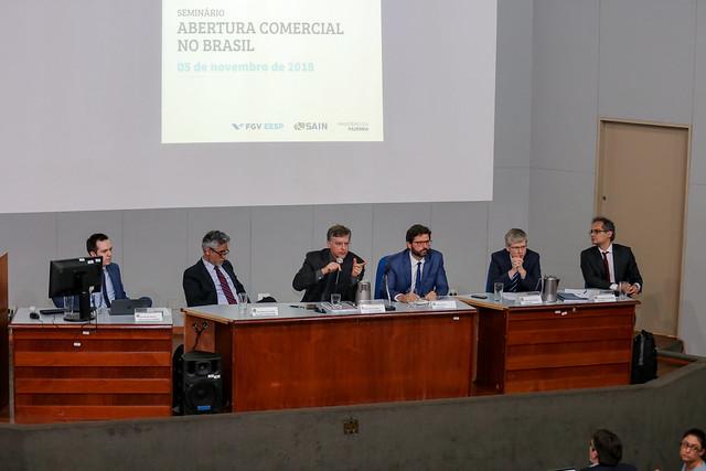 05/11/2018 - Seminário Sain e FGV - Abertura comercial no Brasil