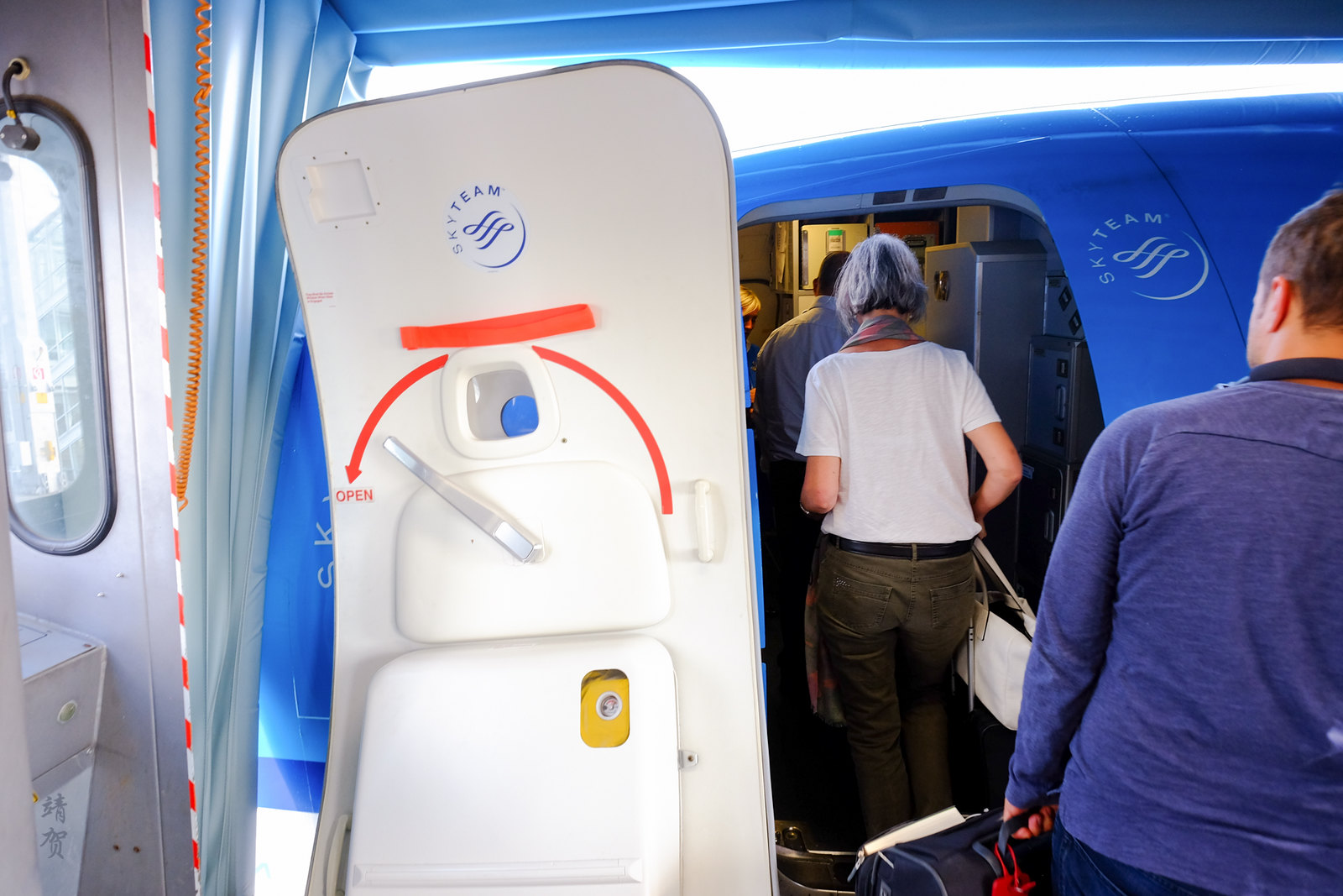 Boarding the KLM jet