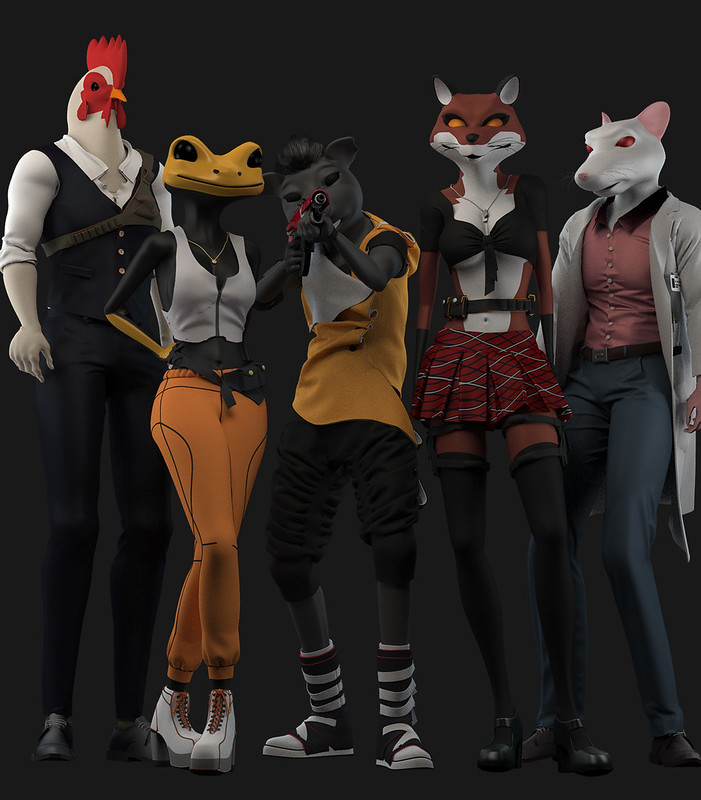 HoverGrease - Sexy Characters