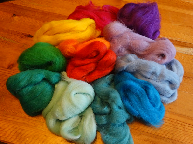 Mixed Dyed Corriedale