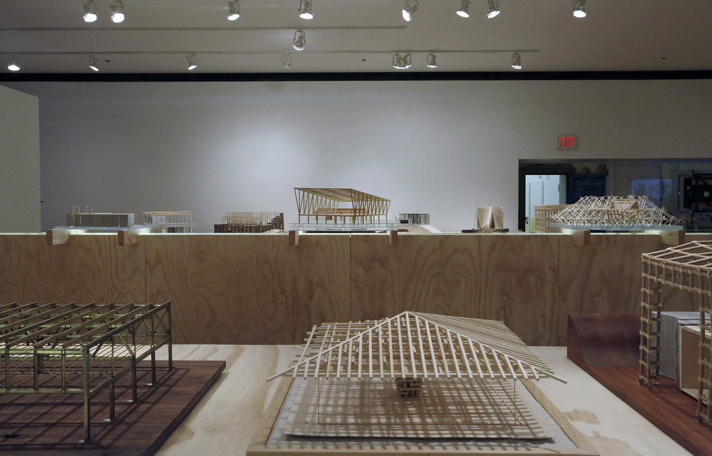 <em>Structural Systems Class Models, Fall 2018</em>  exhibition, in John Hartell Gallery.