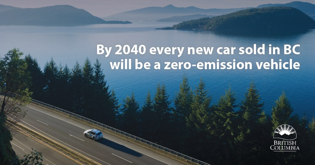In a move aimed at removing a major source of air pollution and climate change, the provincial government has put British Columbia on a path to require the sale of all new light-duty cars and trucks to be zero-emission vehicles (ZEVs) by the year 2040.
