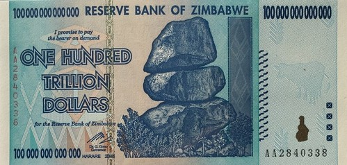 Zimbabwe inflation note
