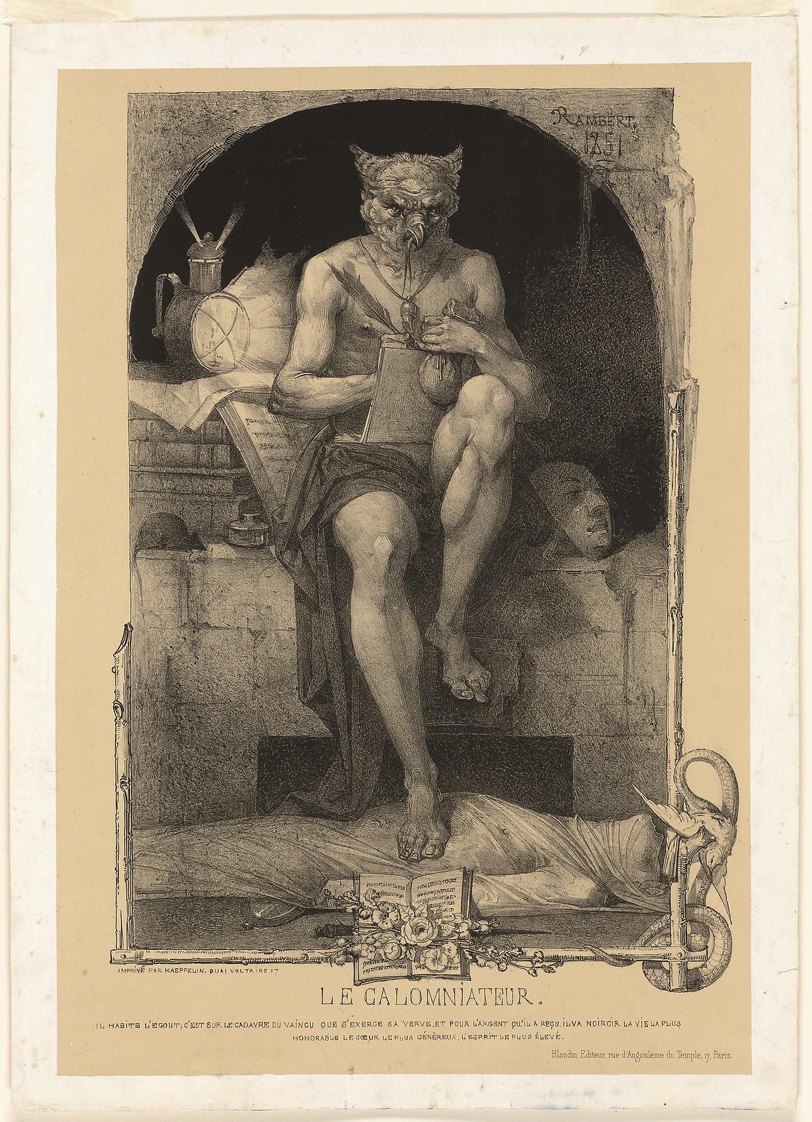 Charles Rambert - The Slanderer, 1851