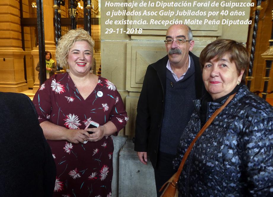 Homenaje a Aguijupens de la Dip Foral Guipuzcoa. Noviembre 2018.