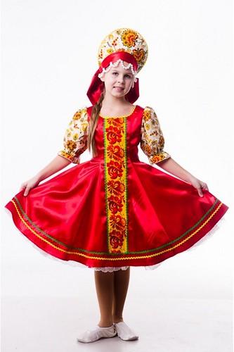 Детский карнавальный костюм Хохлома