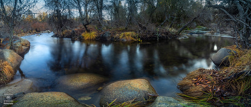 landscape water nature trees river flowing reflection reflections cosumnes somerset california fall autumn panorama panoramic wideangle