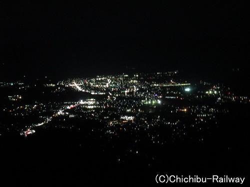 美の山展望台からの夜景