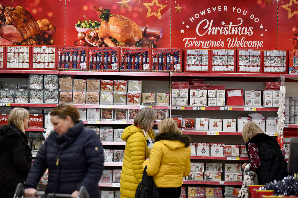Christmas products at Tesco