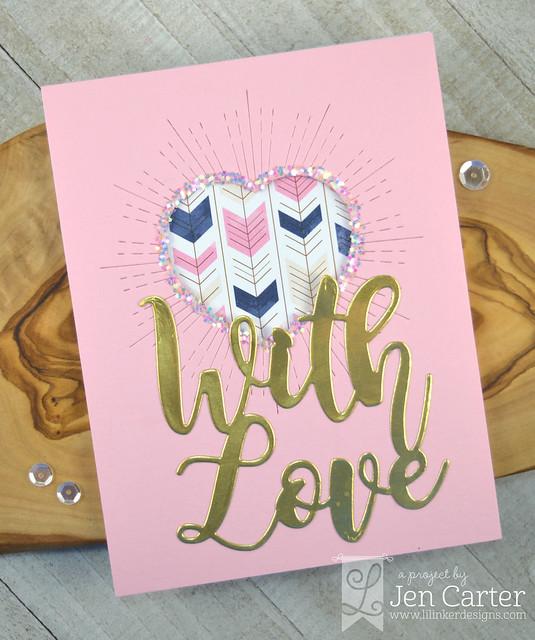 Jen Carter Radiating Love Heart With Love Word Die wm