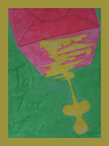 I too used the key dropping out of the envelope as motif of my premiere presents: Colored drawing from my prompterbook Don Karlos Prem.: 16.11. Als Motiv meiner Premierengeschenke kam mir dieselbe Idee wie L. - Nach einer Zeichnung im Soufflierbuch S.26