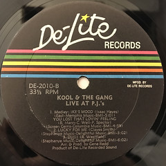 KOOL &THE GANG:LIVE AT THE P.J.'S(LABEL SIDE-B)