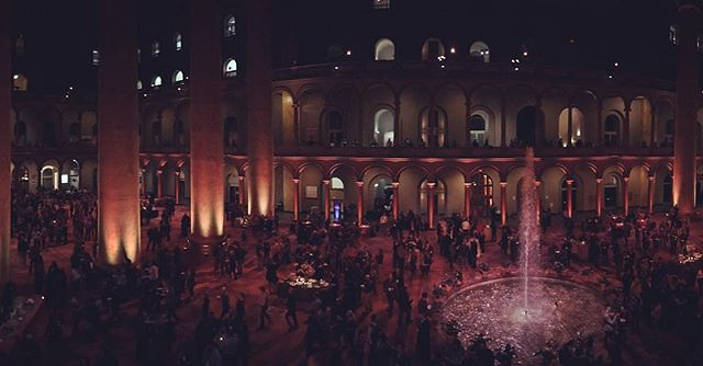 Party at the National Building Museum last night.