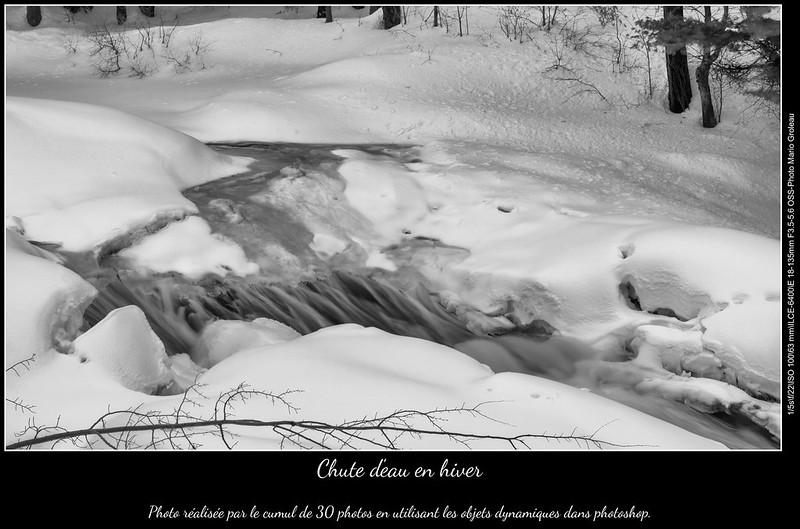Chute d'eau en hiver
