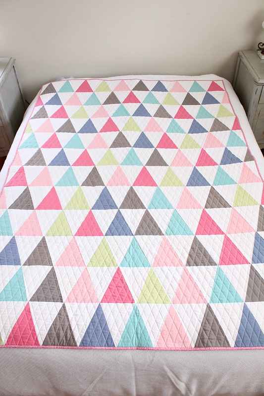 Vintage Sheet Triangle Quilt