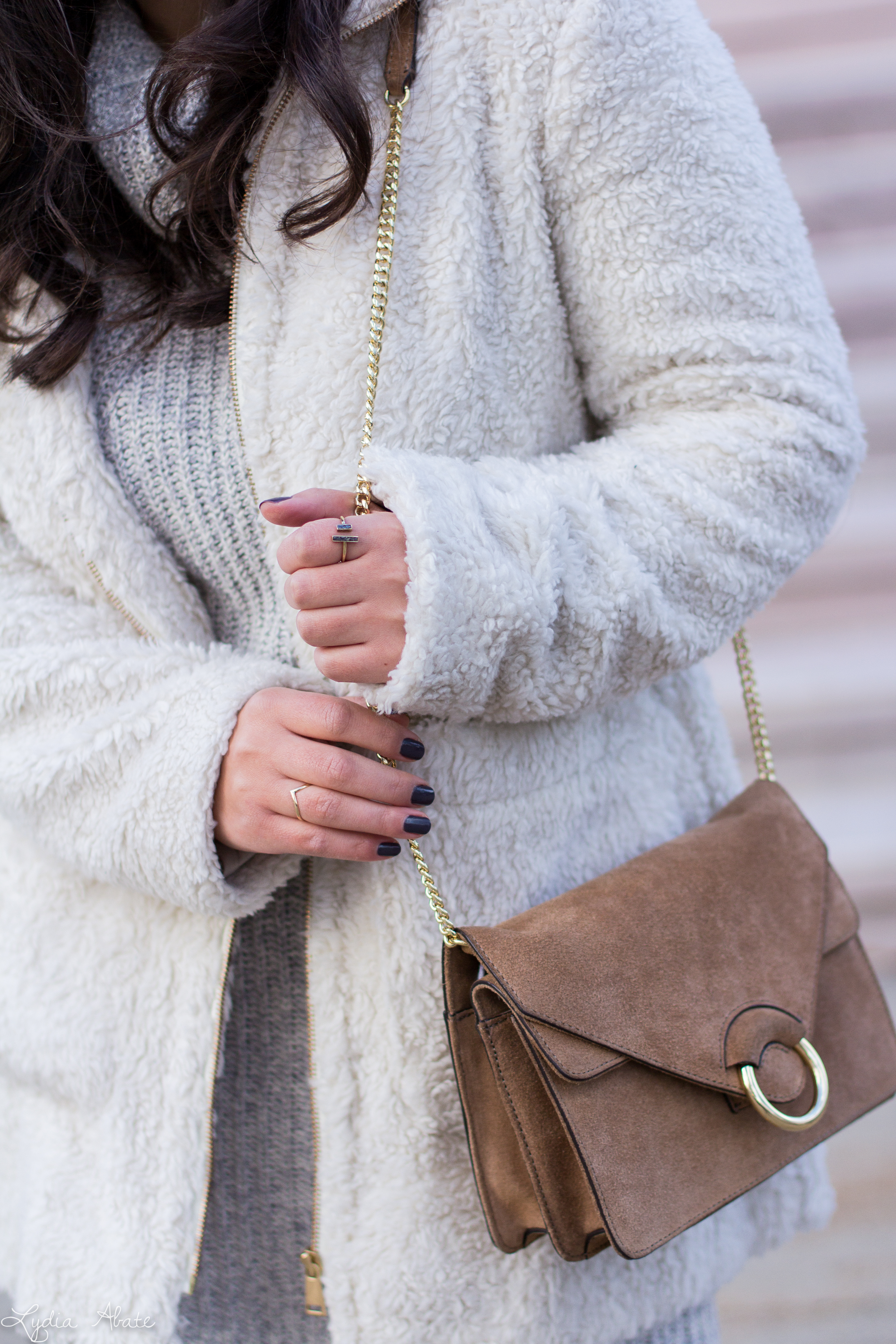 grey sweater dress, white teddy coat, over the knee boots-10.jpg