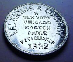 Valentines Varnishes Medal reverse