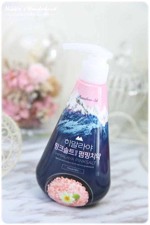 LG喜馬拉雅粉晶鹽 PUMPING胖瓶牙膏 花香薄荷