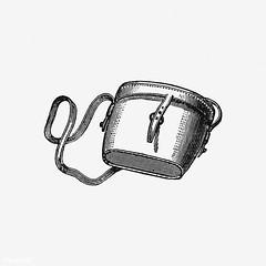 Vintage satchel bag illustration