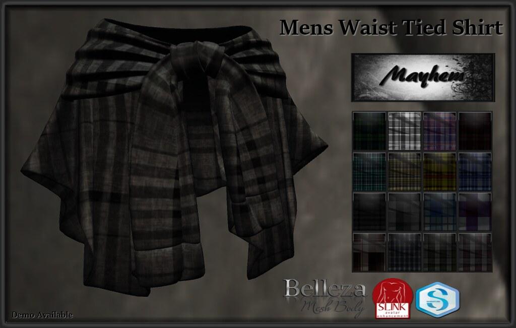 Mayhem Mens Waist Tied Shirt AD - TeleportHub.com Live!