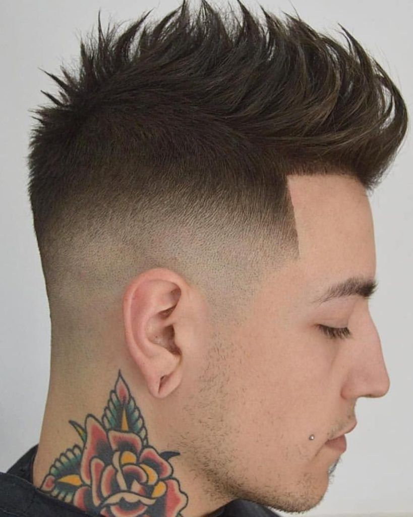 Mohawk fade haircut 2019 For Men's - Mohawk Hair 1