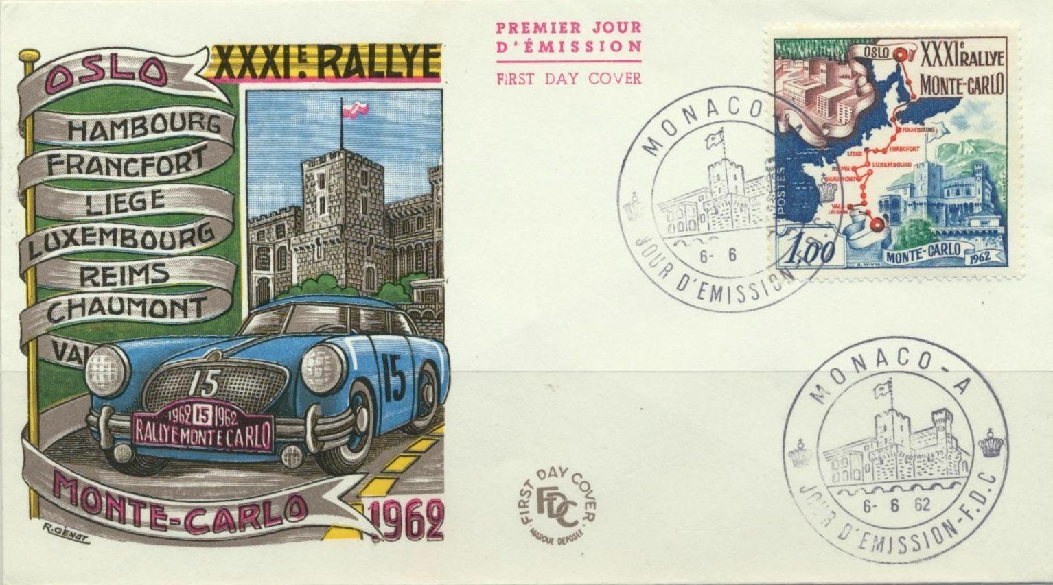 Monaco - Scott #500 (1962) first day cover