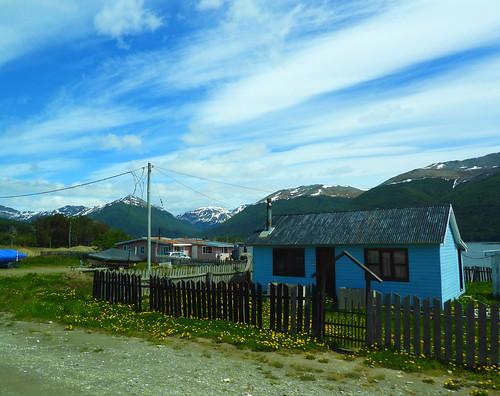 The Lago Escondido village by the Escondido Lake, Ushuaia, Tierra del Fuego, Patagonia, Argentina