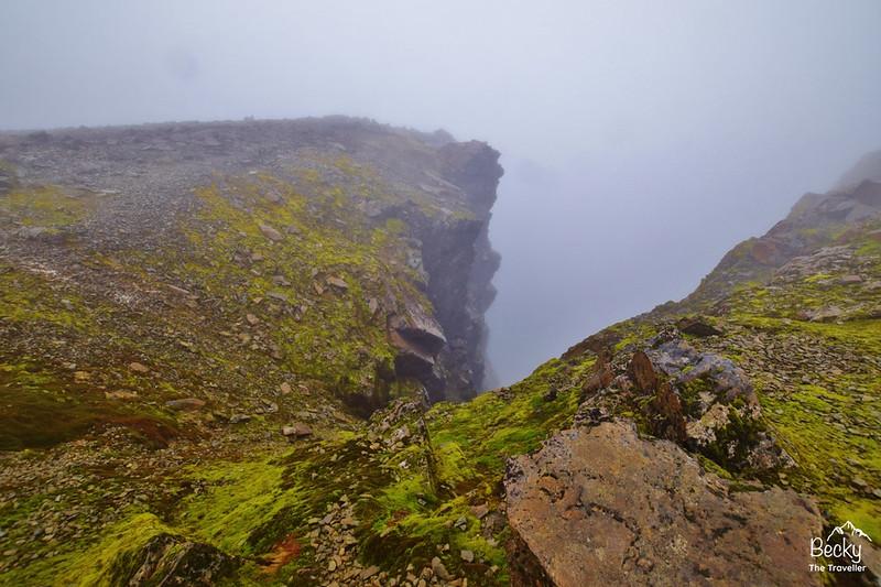 Ben Nevis walk - deep gully