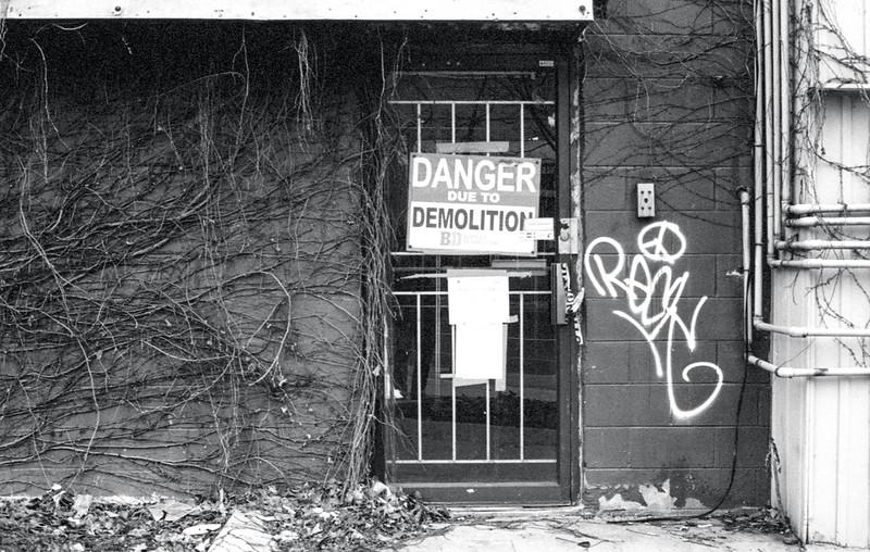 Danger Due Demolition