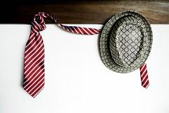 Hat and tie on shelf hangers