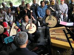 Muziek maken in het park (1)