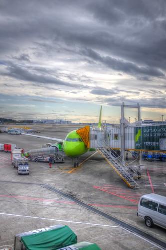 A320 of 'S7' at Narita AP on 24-11-2018 (2)