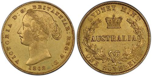 1868 over 6 Australia sovereign