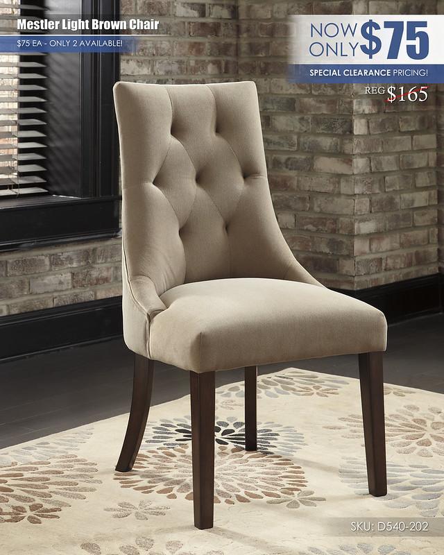 Mestler Light Brown Chairs D540-202
