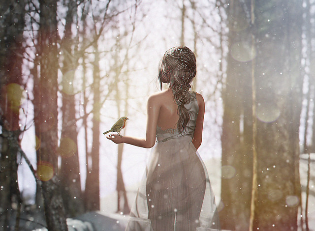 Snow fairies falling, falling from the sky...