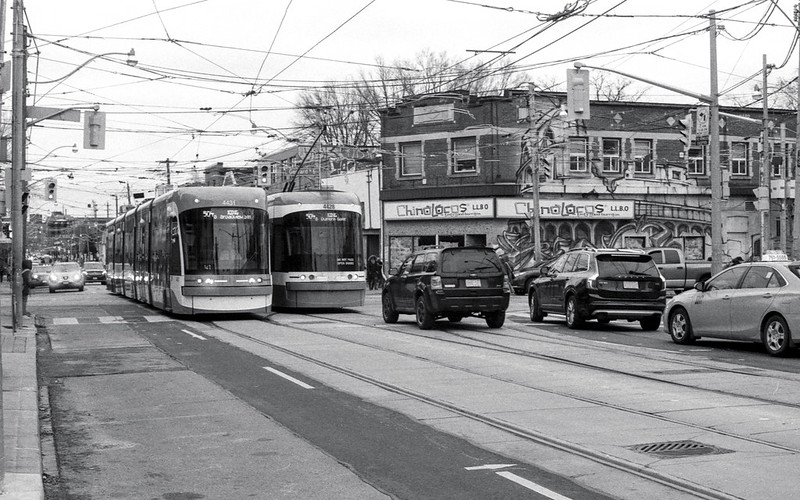Two street Cars on Broadview
