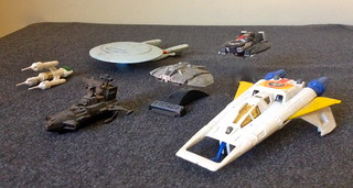 Assorted Toy Spaceships