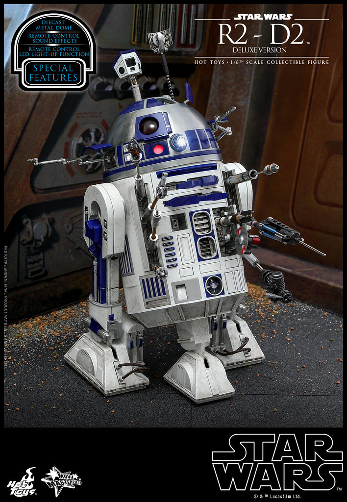 The Most Versatile Adventure Companion! Hot Toys - MMS511 – Star Wars - 1/6th scale R2-D2 Deluxe Version Collectible Figure