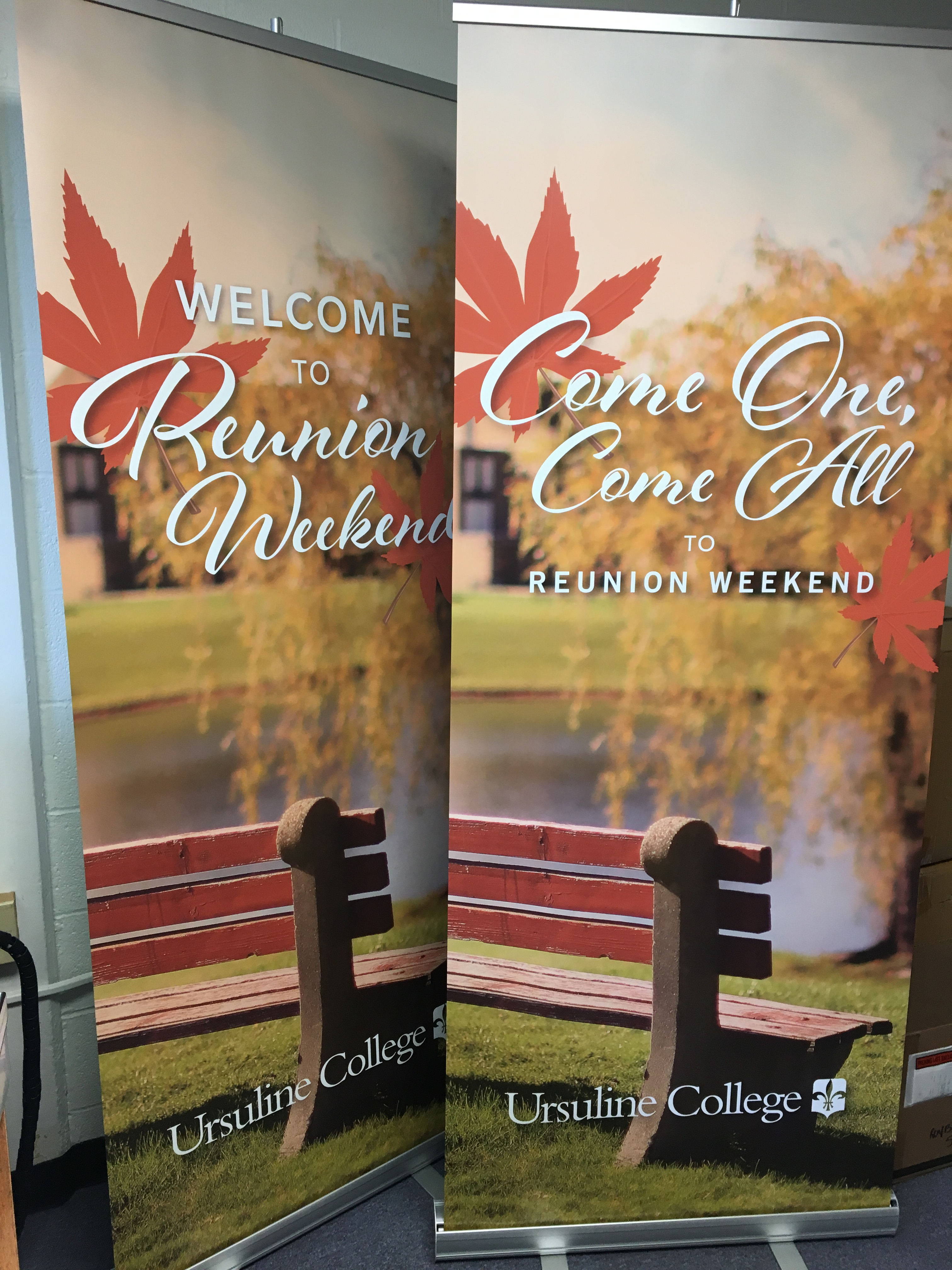 Banners from Reunion Weekend
