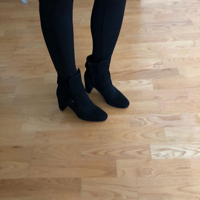 Ann Taylor Lesley Suede Block Heel Booties