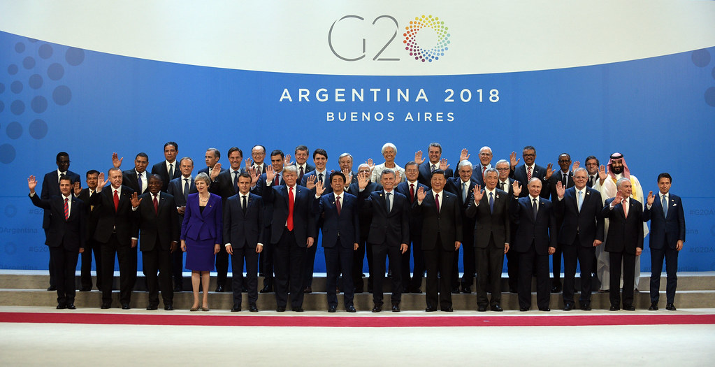 Family photo of the G20 Summit