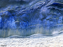 The scarp that demarcates the boundary between layered deposits covering the north polar region and the lower surrounding terrain, which includes sand dunes. Original from NASA. Digitally enhanced by rawpixel.