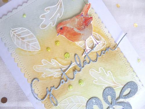 Herbstliche Geburtstagskarte