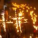Burning Crucifixes at Lewes Bonfire Celebration by lomokev
