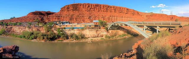 San Juan River & Bridge, Mexican Hat, Utah, USA